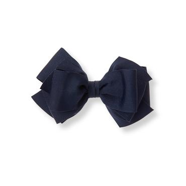 Navy Bow Barrette at JanieandJack