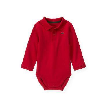 Holiday Red Train Polo Bodysuit at JanieandJack