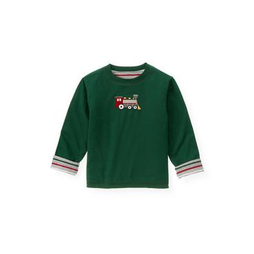 Pine Green Train Reversible Tee at JanieandJack