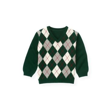Pine Green Argyle Sweater at JanieandJack