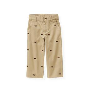 Embroidered Train Pant