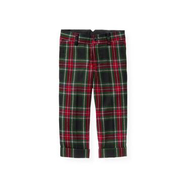 Black Watch Plaid Glen Plaid Wool Trouser at JanieandJack