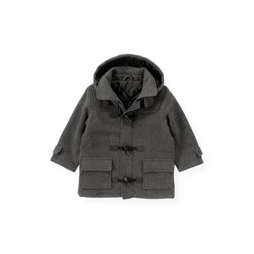 Charcoal Heather Woolen Toggle Coat at JanieandJack