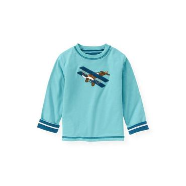 Globe Blue Airplane Reversible Tee at JanieandJack