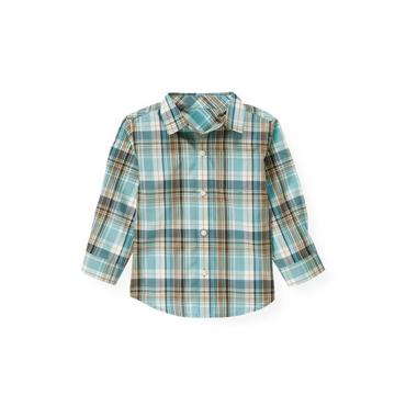 Globe Blue Plaid Plaid Shirt at JanieandJack