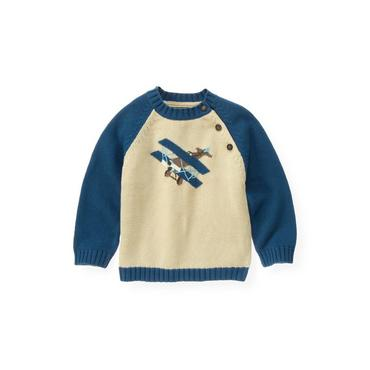 Antique Ivory Airplane Sweater at JanieandJack