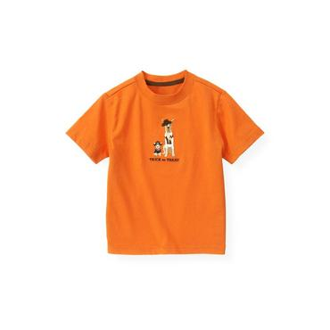 Pumpkin Orange Trick Or Treat Dog Tee at JanieandJack