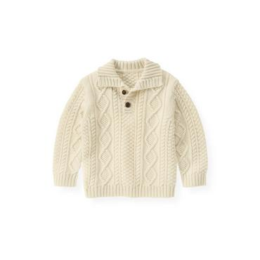 Antique White Cable Sweater at JanieandJack
