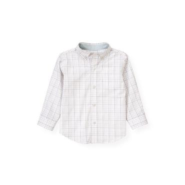 Winter Blue Check Tattersall Shirt at JanieandJack