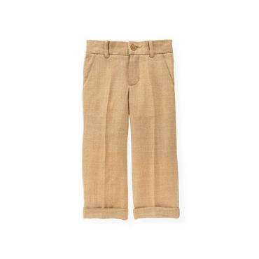 Camel Herringbone Trouser at JanieandJack