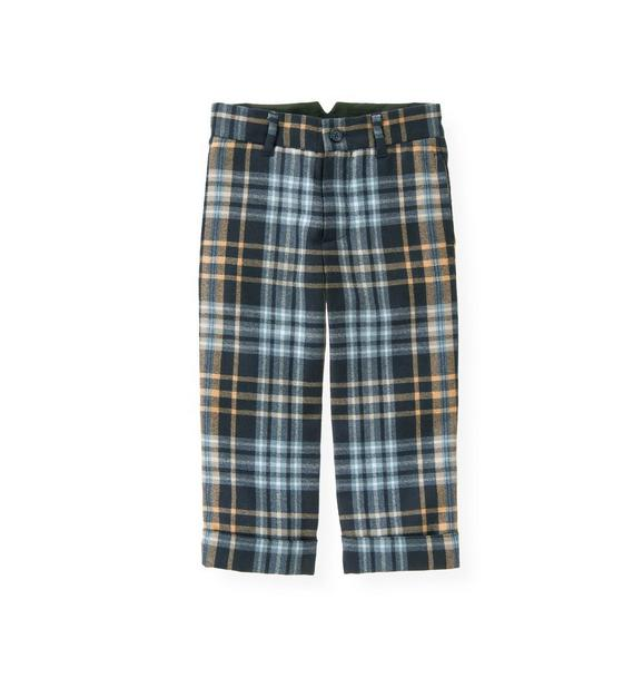 Glen Plaid Wool Suit Trouser