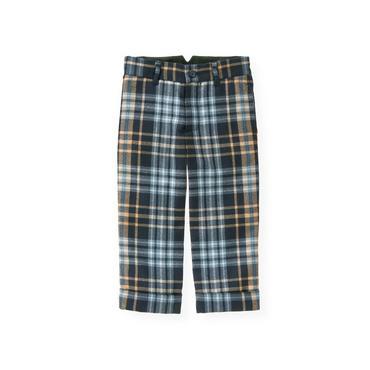 Classic Navy Plaid Glen Plaid Wool Suit Trouser at JanieandJack