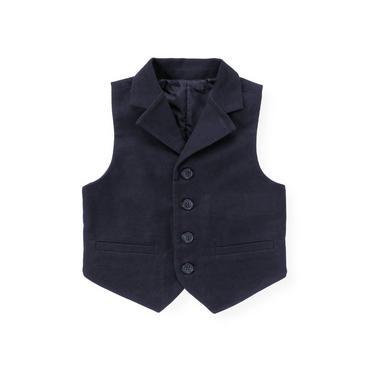 Classic Navy Moleskin Suit Vest at JanieandJack