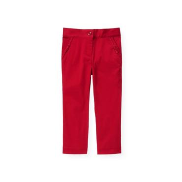 Holiday Red Sateen Pant at JanieandJack