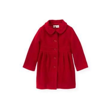Holiday Red Melton Dress Coat at JanieandJack