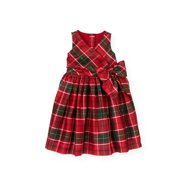 Holiday Red Plaid Plaid Silk Dress at JanieandJack