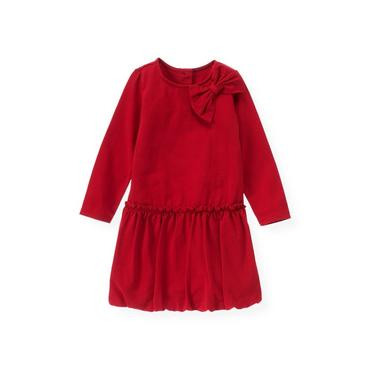Holiday Red Knit Bubble Dress at JanieandJack
