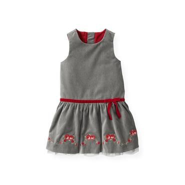 Winter Grey Rose Velveteen Jumper at JanieandJack