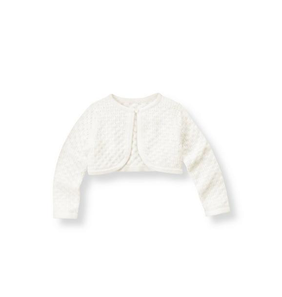 Pointelle Crop Cardigan