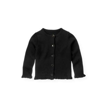 Black Enamel Button Cardigan at JanieandJack