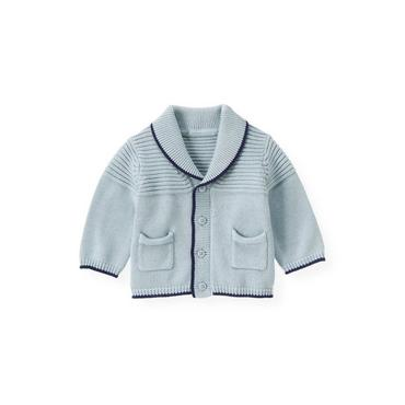 Cloud Blue Shawl Collar Cardigan at JanieandJack