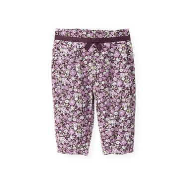 Hydrangea Purple Pleated Floral Pant at JanieandJack