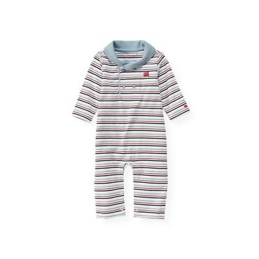 London Navy Stripe Collared Stripe One-Piece at JanieandJack