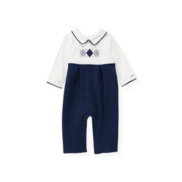 London Navy Argyle One-Piece at JanieandJack