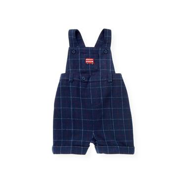 London Navy Plaid Plaid Woolen Shortall at JanieandJack