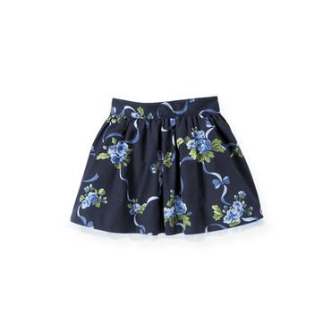 Navy Rose Floral Garland Floral Skirt at JanieandJack