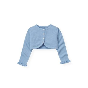 Winter Blue Crop Cardigan at JanieandJack