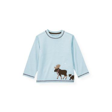 Lake Blue Moose Tee at JanieandJack