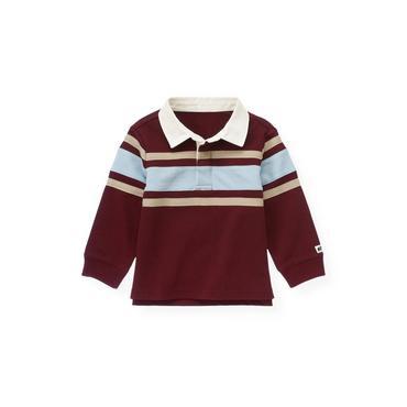 Port Wine Stripe Rugby Shirt at JanieandJack