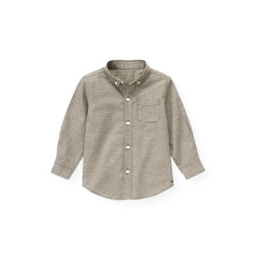 Moose Brown Minicheck Houndstooth Shirt at JanieandJack