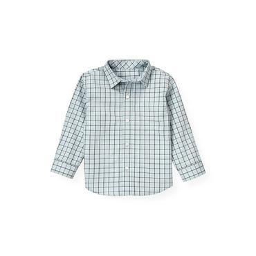 Lake Blue Check Windowpane Plaid Shirt at JanieandJack