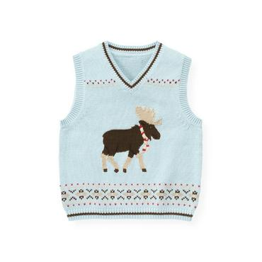 Lake Blue Moose Fair Isle Sweater Vest at JanieandJack
