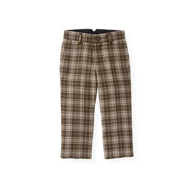 Moose Brown Plaid Plaid Pant at JanieandJack