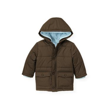 Moose Brown Three-In-One Puffer Jacket at JanieandJack