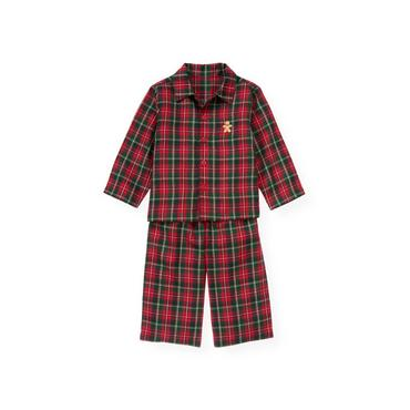 Red Holly Plaid Plaid Pajama Set at JanieandJack