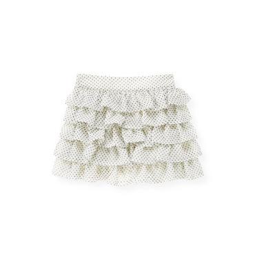 Ivory Dot Pindot Tiered Chiffon Skirt at JanieandJack