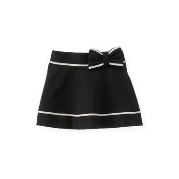 Black Bow Tipped Ponte Skirt at JanieandJack