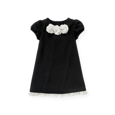 Black Chiffon Rosette Dress at JanieandJack