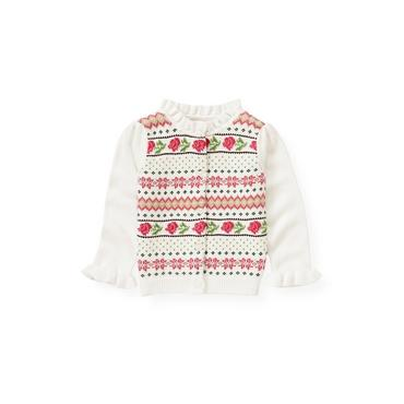 Holiday Rose Rose Fair Isle Cardigan at JanieandJack