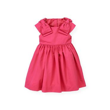 Bright Pink Bow Dress at JanieandJack