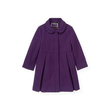 Royal Plum Woolen Dress Coat at JanieandJack