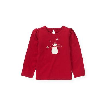 Red Holly Snowman Top at JanieandJack