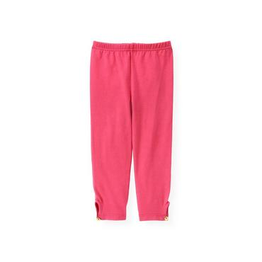 Raspberry Pink Button Cuff Legging at JanieandJack