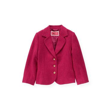 Raspberry Pink Tweed Blazer at JanieandJack