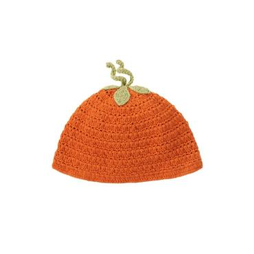 Baby Boy Pumpkin Orange Pumpkin Crochet Beanie at JanieandJack
