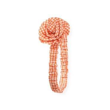 Pumpkin Check Rosette Gingham Headband at JanieandJack